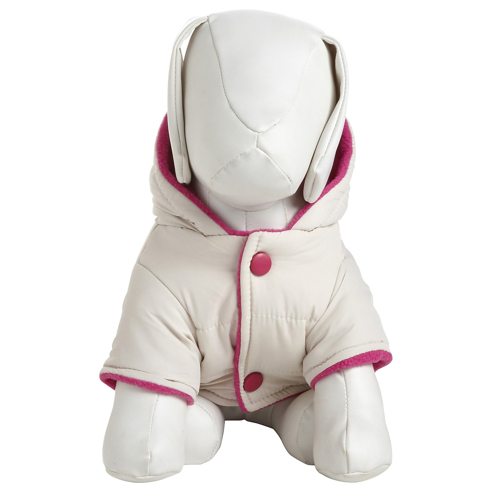 Petlife White and Pink Two-tone Jewel Polyester Fleece Pe...