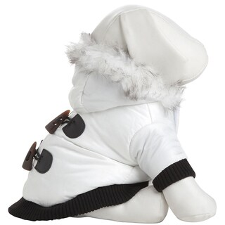 Pet Life Winter White Pet Fashion Parka