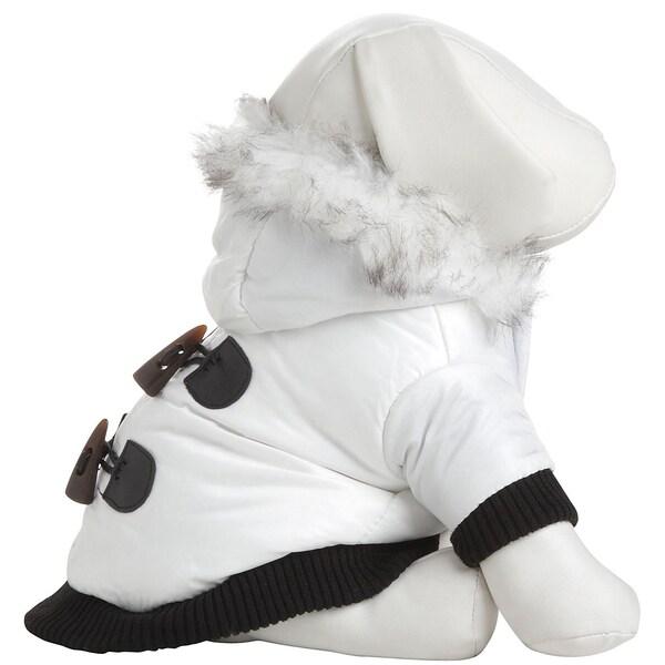 Pet Life Winter White Pet Fashion Parka