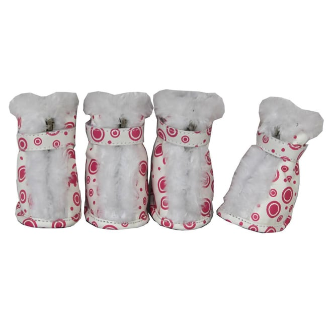 Petlife Comfort Protective Fur Boots (Set of 4) (Small), ...