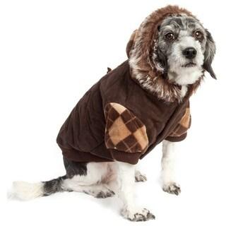 Pet Life Designer Patterned Removable Hood Cotton Pet Sweat Jacket