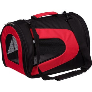 Pet Life Folding Suitcase Style Zippered Sporty Mesh Carrier