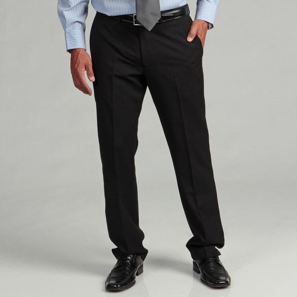 Kenneth Cole Reaction Men's Slim-fit Black Stripe Flat-front Suit Separate Pant