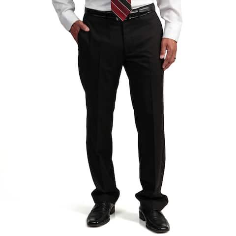 Kenneth Cole Reaction Men's Black Slim-fit Flat-front Suit Separate Pant Trousers