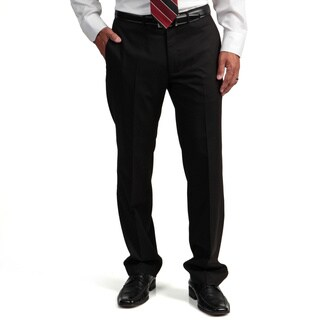 Kenneth Cole Reaction Men's Black Slim-fit Flat-front Suit Separate Pant Trousers