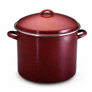 Paula Deen Signature Enamel on Steel 16-quart Covered Red Stockpot