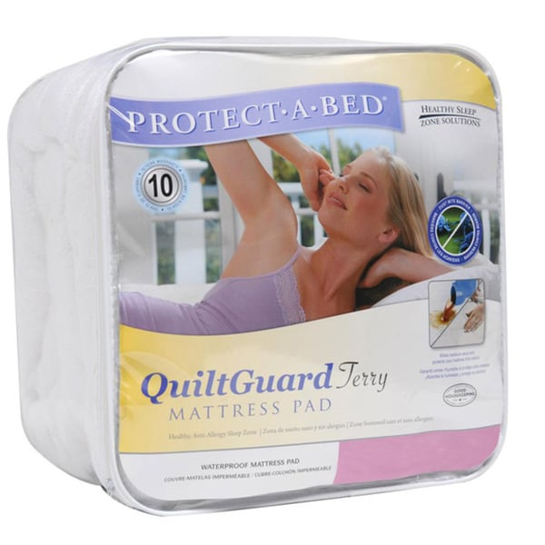 Protect-A-Bed QuiltGuard Terry Cal King-size Mattress Pad