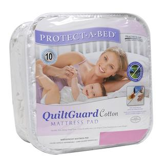 Protect-A-Bed QuiltGuard Cotton Queen-size Mattress Pad