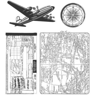 Tim Holtz Cling 'Air Travel' Rubber Stamp Set