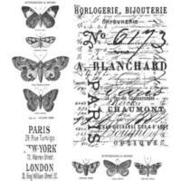 Tim Holtz Cling 'Papillon' Rubber Stamp Set