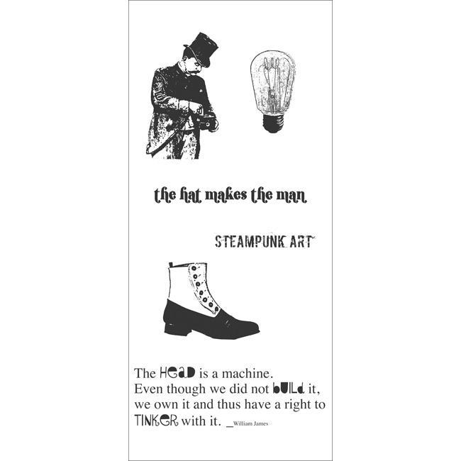 Studio 490 Cling 'Steampunk Art' Rubber Stamp Set