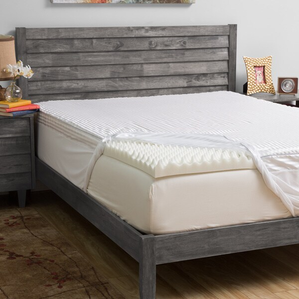 Grande hotel collection comfort loft 3 inch memory foam for Are memory foam mattresses comfortable