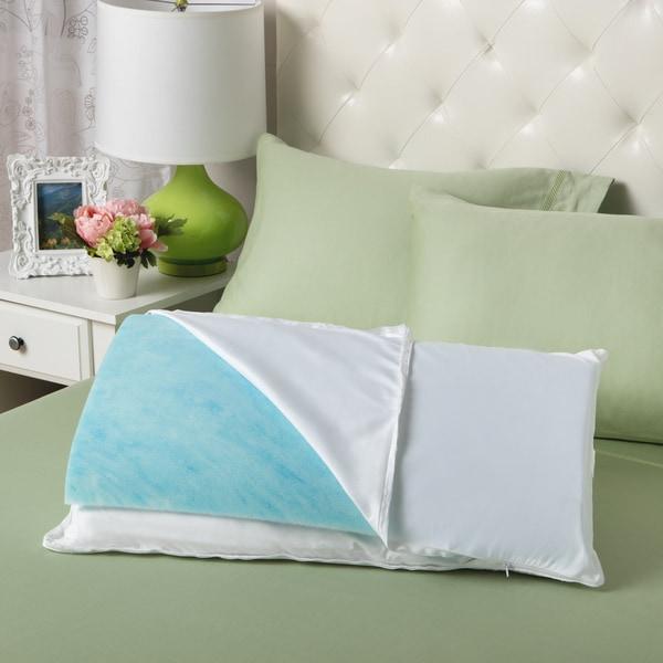 Slumber Solutions Gel Reversible Memory Foam Fiber Sleep
