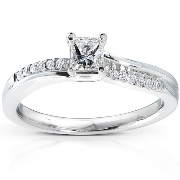 Annello by Kobelli 14k White Gold 1/3ct TDW Diamond Engagement Ring (H-I, I1-I2)