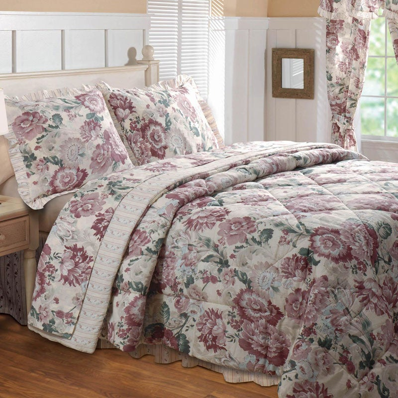 greenland home fashions emily 4 piece full size comforter set free shipping today overstock. Black Bedroom Furniture Sets. Home Design Ideas
