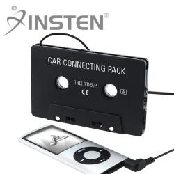 INSTEN Black Universal Car Audio Cassette Adapater for Apple iPhone 4S/ 5S/ 6