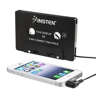 INSTEN Black Universal 3.5mm Car Audio Cassette Adapter with 3 ft. Cord for Smartphones/ Apple iPhone 7/ 6/ 6s Plus|https://ak1.ostkcdn.com/images/products/5938453/P13638217.jpg?_ostk_perf_=percv&impolicy=medium