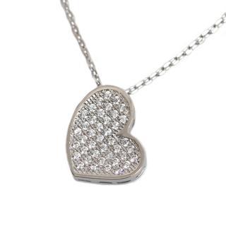 NEXTE Jewelry Silvertone Cubic Zirconia Oblong Heart Necklace