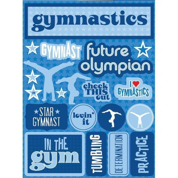 Signature Dimensional Gymnastics Sticker Sheet