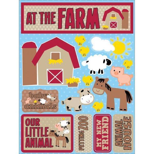 Signature Dimensional At the Farm Stickers