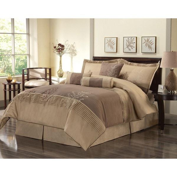 Shop Serena Oversized Queen Size 7 Piece Comforter Set