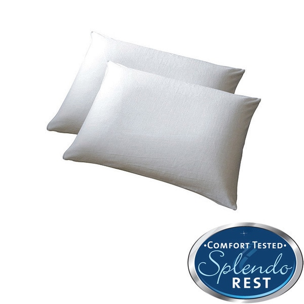 SplendoRest Traditional Ventilated Memory Foam Pillows (Set of 2)