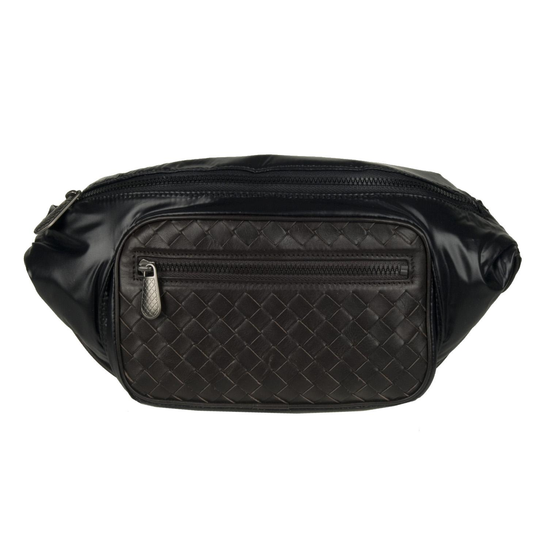 Bottega Veneta Nylon and Leather Hip Bag