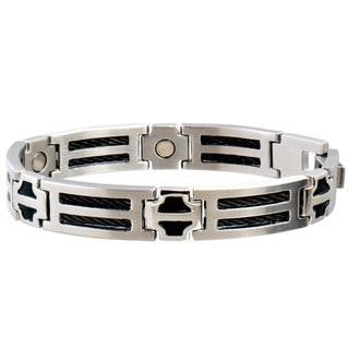 Sabona Stainless Steel Black Cable Magnetic Bracelet