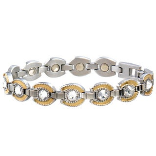 Sabona Women's Stainless Steel Goldtone Horseshoe Magnetic Bracelet