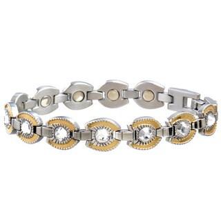 Sabona Women's Stainless Steel Goldtone Horseshoe Magnetic Bracelet
