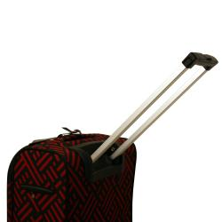 Shop Jenni Chan Black And Red 20 Inch Wheeled Carry On