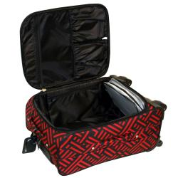Jenni Chan Black and Red 20-inch Wheeled Carry-on Upright Luggage