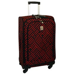 Jenni Chan Black and Red Signature 24-inch Wheeled Upright Luggage