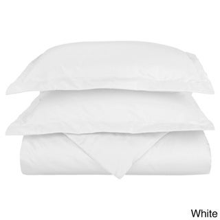 Superior 600 Thread Count Wrinkle Resistant Cotton Blend Duvet Cover Set