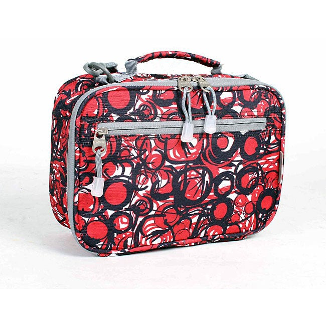 J World Marble Red Cody Lunch Tote