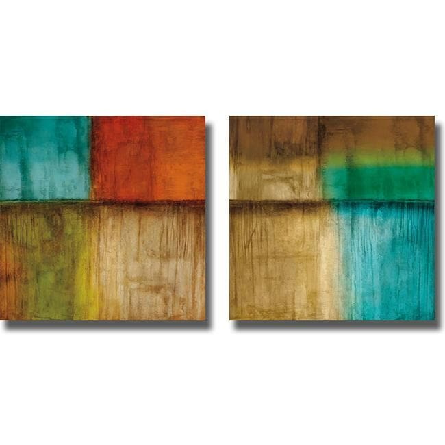 Kurt Morrison 'Spectrum I and II' 2-piece Canvas Art Set
