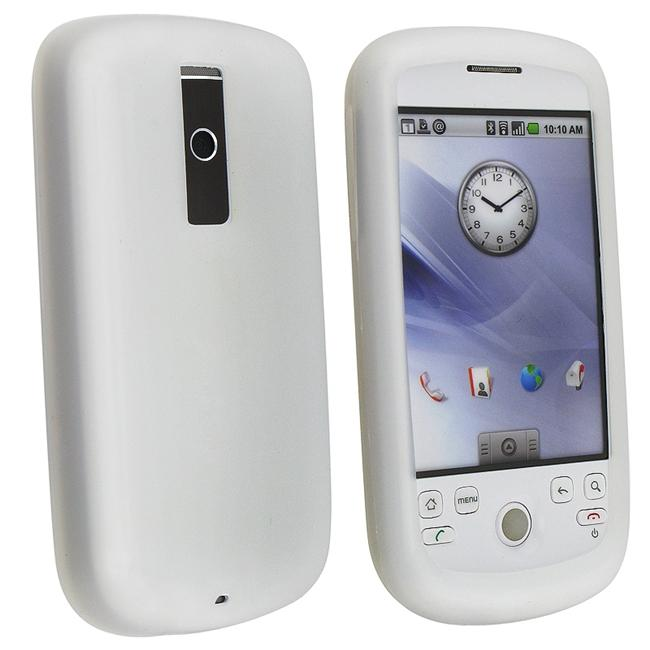 INSTEN Clear White Soft Silicone Phone Case Cover for HTC Magic/ myTouch 3G