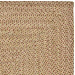 Safavieh Hand-woven Reversible Red/ Green Braided Rug (4' x 6') - Thumbnail 2