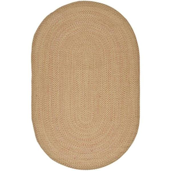 Safavieh Hand-woven Reversible Beige with Light Pink Undertone Braided Rug (8' x 10' Oval) - 8' x 10' Oval