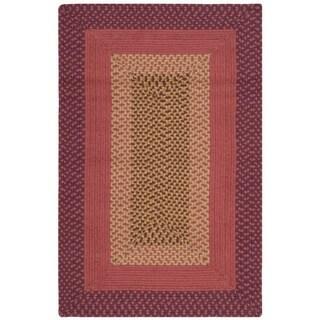 Safavieh Hand-woven Reversible Pink Braided Rug (2'6 x 4')