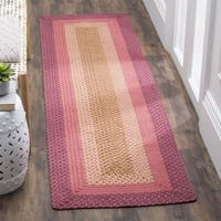"Safavieh Hand-woven Reversible Pink Braided Runner - 2'3"" x 8'"