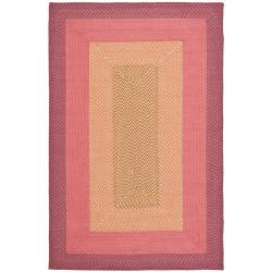 Safavieh Hand Woven Reversible Pink Braided Rug 5 X 8
