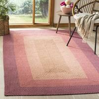 Safavieh Hand-woven Reversible Pink Braided Rug - 6' x 6' Square