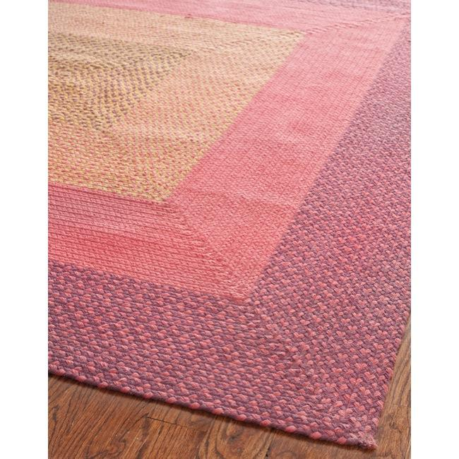 Safavieh Hand-woven Reversible Pink Braided Rug (8' X 10