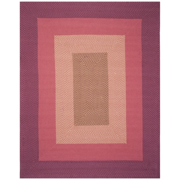 Safavieh Hand-woven Reversible Pink Braided Rug (8' x 10')