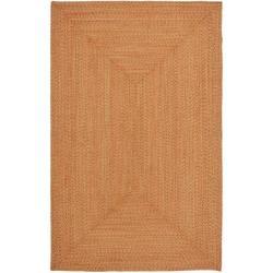 Safavieh Hand-woven Reversible Peach/ Green Braided Rug - 2'6' x 4' - Thumbnail 0