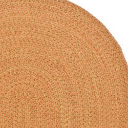 Safavieh Hand-woven Reversible Peach/ Green Braided Rug (3' x 5' Oval) - Thumbnail 2