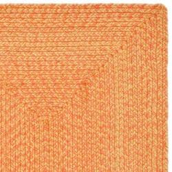 Safavieh Hand-woven Reversible Peach/ Yellow Braided Runner (2'3 x 8') - Thumbnail 2