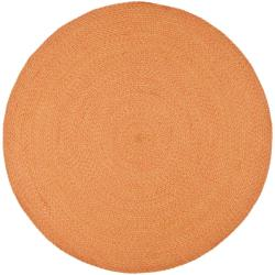 Safavieh Hand-woven Reversible Peach/ Yellow Braided Rug (6' Round)