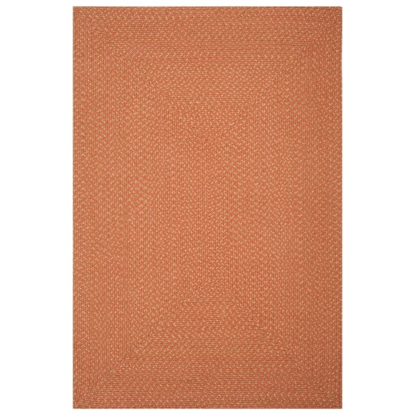 Safavieh Hand Woven Reversible Peach Yellow Braided Rug 8 X27